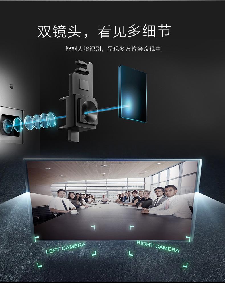 MAXHUB旗舰版内置双镜头,看见更多细节