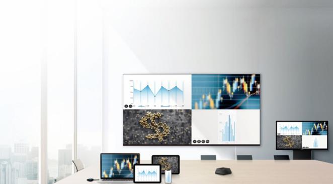 MAXHUB小间距无缝拼接屏可实现无线传屏功能