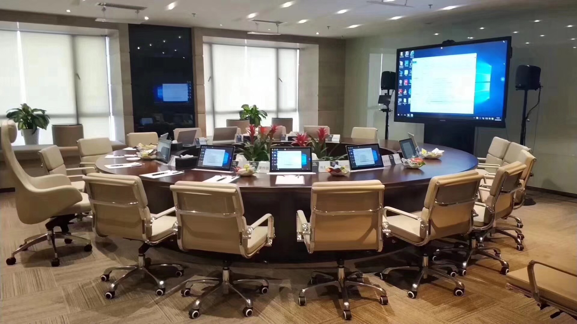客户使用会议平板的真实场景