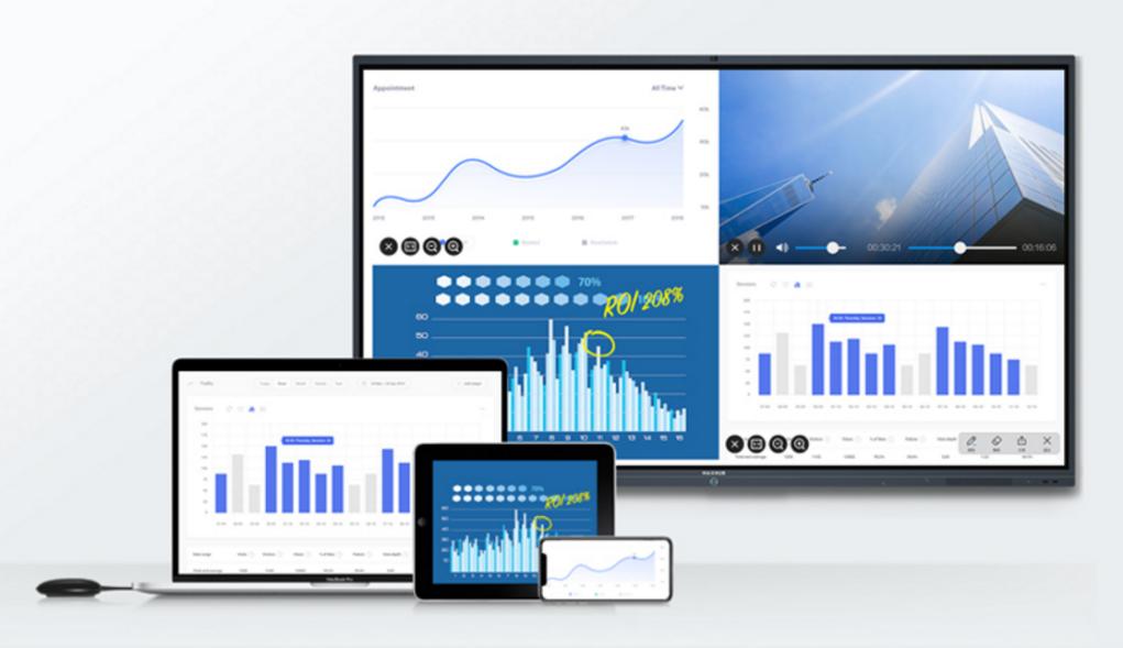 MAXHUB支持各种移动设备进行无线传屏